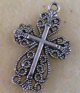 Pewter Cross  (5 Pieces) - www.kraftsandbeads.com