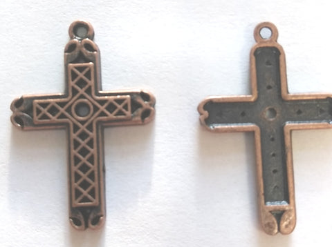 Bulk Crosses Bronze (12 Pieces) - www.kraftsandbeads.com