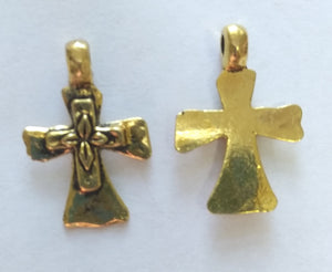 Bulk Crosses Gold (5 Pieces) - www.kraftsandbeads.com