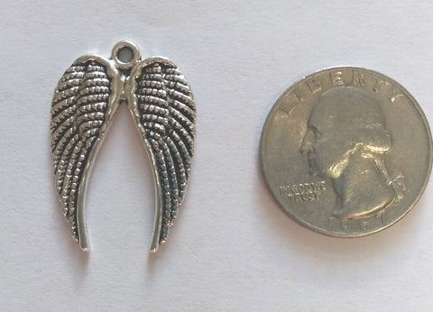 Pewter Double Wings (6 Pieces) - www.kraftsandbeads.com