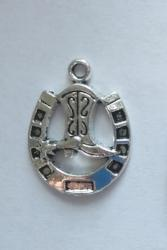Cowboy Boot & Horse Shoe Charms (8 Pieces) - www.kraftsandbeads.com