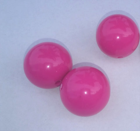 Acrylic Bead Hot Pink Color 20mm