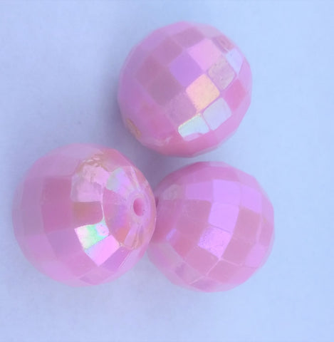 Bubble Gum Beads Round Acrylic Pink Color 20mm