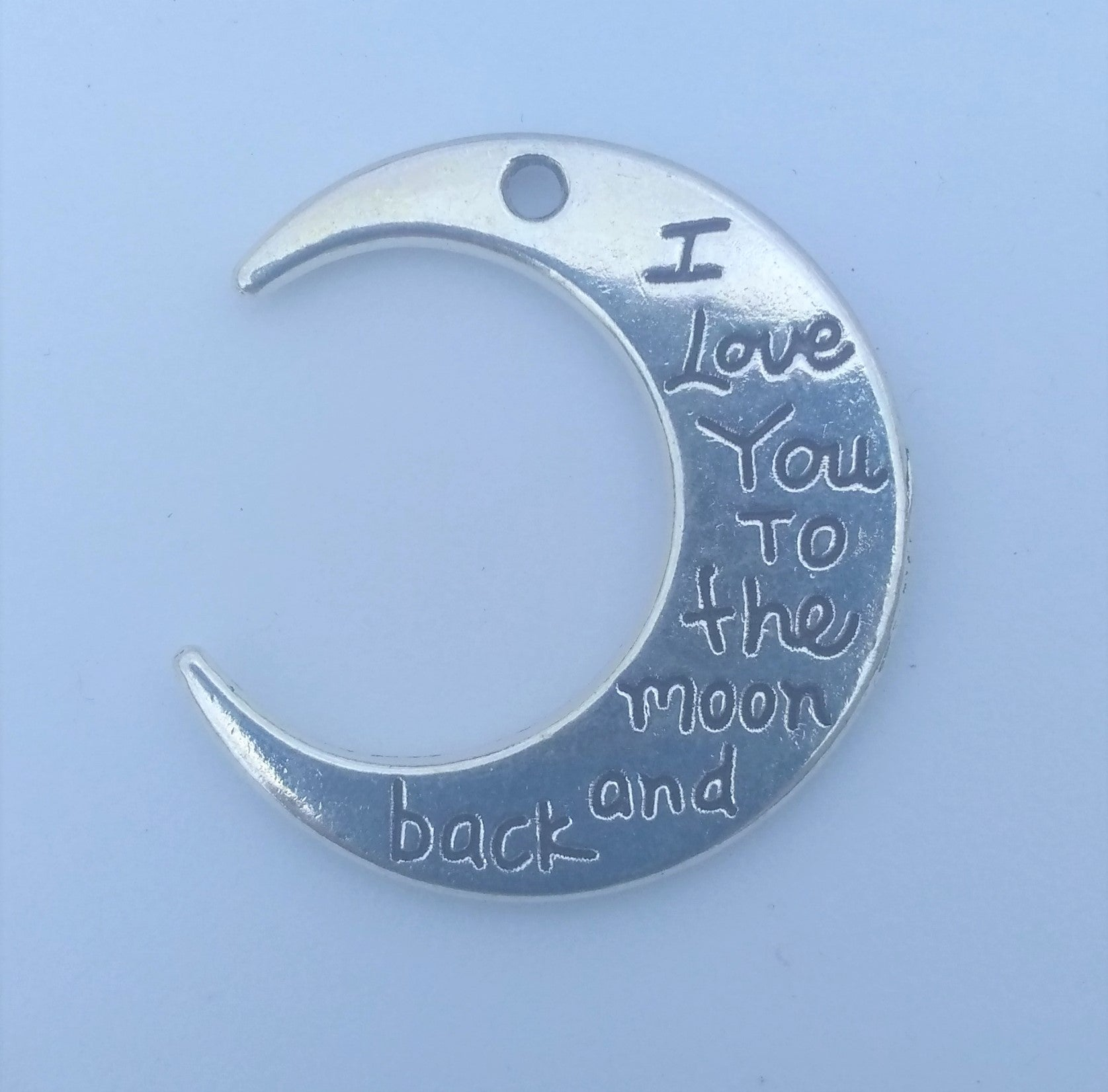 """I love you to the moon and back"" Charms (4 Pieces)"