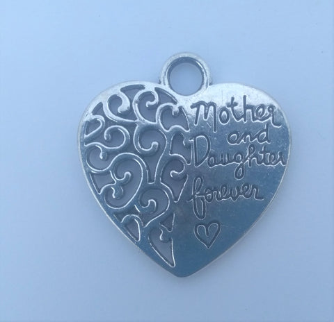 Mother and Daughter Forever Heart Charms (3 Pieces)