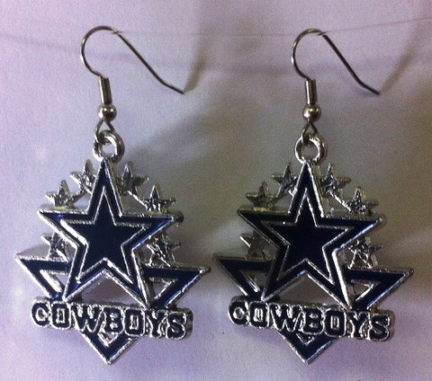 Cowboys Earrings - www.kraftsandbeads.com