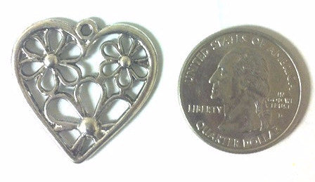 Heart Charms (3 Pieces) - www.kraftsandbeads.com