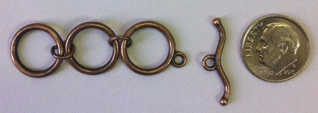 Pewter Toggle and Bar with Extension (3 Sets) - www.kraftsandbeads.com