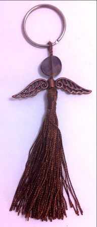 Angel Key Chain with Tassel - www.kraftsandbeads.com