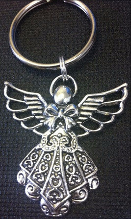 Angel Key Chain - www.kraftsandbeads.com