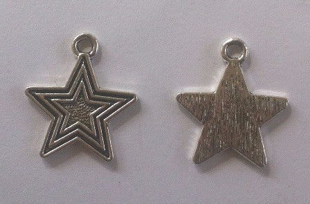 Star Charms (8 Pieces) - www.kraftsandbeads.com