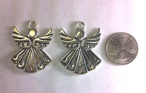 Angel Charms or Pendants (2 Pieces) - www.kraftsandbeads.com