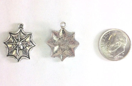 Spider Web Charms (6 Pieces) - www.kraftsandbeads.com