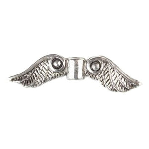 Pewter Wings Beautiful Details (20 Pieces) - www.kraftsandbeads.com