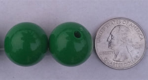 Bubble Gum Beads Round Acrylic Green Color 20mm