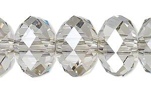 Chinese Crystal Beads Rondelle Shape 8mm X 6mm Color Gray