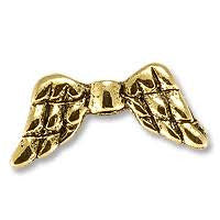 Angel Wings (20 Pieces) Gold Color - www.kraftsandbeads.com