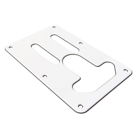 White Tremlocker Backplate for Fender Stratocaster