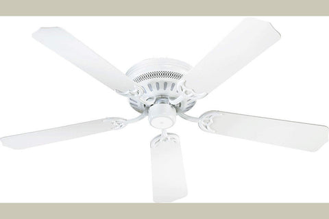 "Quorum 11425-6 42"" Custom Hugger Ceiling Fan in White"