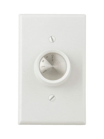 Craftmade - CM-4SDH - Four Speed Fan Wall Control - Wall Controls - White