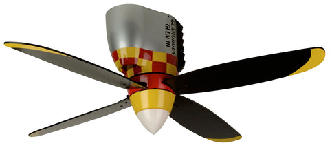 "Craftmade WarPlanes WB448GG4 48"" Ceiling Fan with Blades Included in Glamorous Glen"