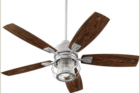 "Quorum 13525-9 52"" Galveston Ceiling Fan in Galvanized"