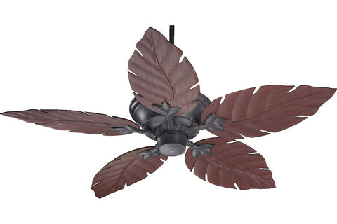 "Quorum 135525-44 52"" Monaco Patio in Toasted Sienna with Rosewood Blades Wet Rated Outdoor Ceiling Fan"