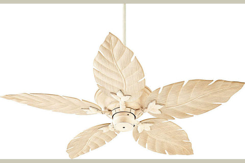"Quorum 135525-70 52"" Monaco Patio Ceiling Fan in Persian White"