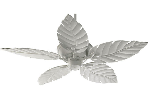 "Quorum 135525-8 52"" Monaco Patio in Studio White with Studio White Blades Wet Rated Outdoor Ceiling Fan"