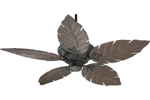 "Quorum 135525-95 52"" Monaco Patio in Old World with Walnut Blades Wet Rated Outdoor Ceiling Fan"