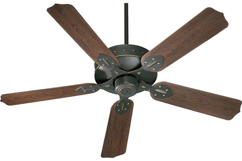 "Quorum 137525-95 52"" Hudson Patio in Old World with Walnut Blades Wet Rated Outdoor Ceiling Fan"