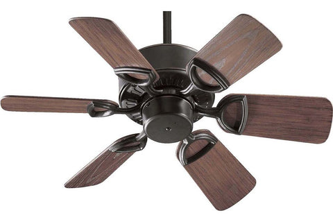 "Quorum 143306-95 30"" Estate in Old World with Walnut Blades Wet Rated Outdoor Ceiling Fan"