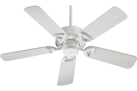 "Quorum 143425-6 42"" Estate in White with White Blades Wet Rated Outdoor Ceiling Fan"