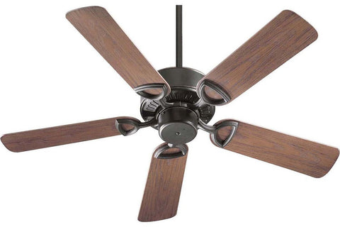 "Quorum 143425-95 42"" Estate in Old World with Walnut Blades Wet Rated Outdoor Ceiling Fan"