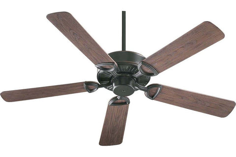 "Quorum 143525-95 52"" Estate in Old World with Walnut Blades Wet Rated Outdoor Ceiling Fan"