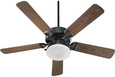 "Quorum 143525-995 52"" Estate in Old World with Walnut Blades Wet Rated Outdoor Ceiling Fan"