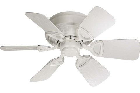 "Quorum 151306-8 30"" Medallion in Studio White with Studio White Blades Damp Rated Outdoor Ceiling Fan"