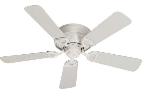 "Quorum 151425-8 42"" Medallion in Studio White with Studio White Blades Damp Rated Outdoor Ceiling Fan"