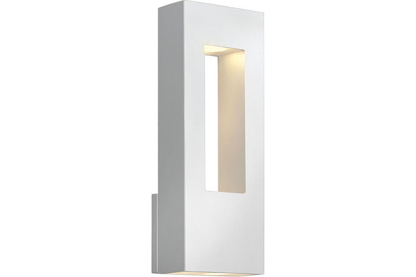 Hinkley 1648SW Atlantis Cast Aluminum Outdoor Wall Sconce Lighting in Satin White with Etched Glass Lens