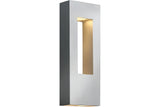 Hinkley 1648TT Atlantis Outdoor Wall Sconce Lighting in Titanium with Etched Glass Lens