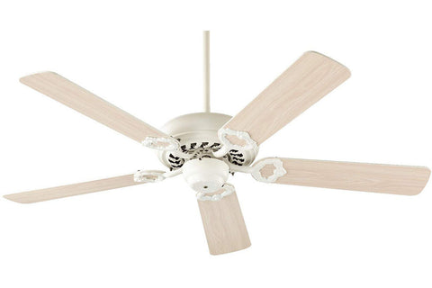 "Quorum 17525-67 52"" Monticello Ceiling Fan in Antique White"