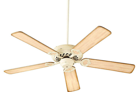 "Quorum 17525-70 52"" Monticello Ceiling Fan in Persian White"