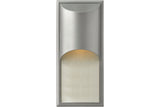 Hinkley 1834TT Cascade Cast Aluminum Outdoor Wall Pocket Sconce Lighting in Titanium with Clear Etched Organic Rain Glass