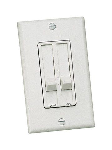 Craftmade - CM-3SSDC-W - Three Speed Fan and Light Wall Control with Dimmer - Wall Control - White