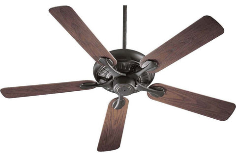 "Quorum 191525-95 52"" Pinnacle in Old World with Walnut Blades Wet Rated Outdoor Ceiling Fan"