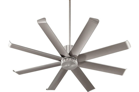 "Quorum 196608-65 60"" Proxima Ceiling Fan in Satin Nickel"