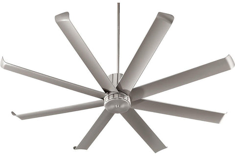 "Quorum 196728-65 72"" Proxima Ceiling Fan in Satin Nickel"