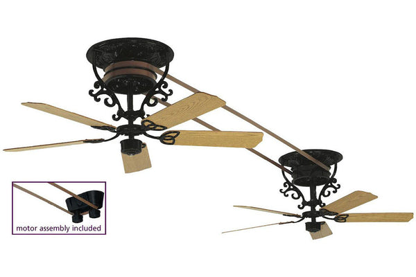 "Fanimation 2-FP580BL-FP510BL-FP1013 56"" Bourbon Street Short Ceiling Fan"