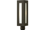 Hinkley 2191BZ Dorian Cast Aluminum Outdoor Post Lighting in Bronze with Clear Painted White Inside Glass