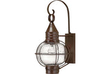 Hinkley 2204SZ Cape Cod Outdoor Wall Sconce Lighting in Sienna Bronze with Clear Seedy Glass